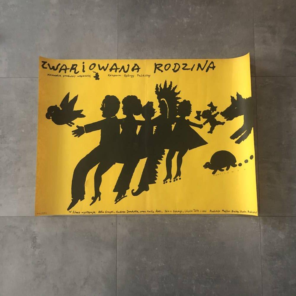 """Plakat """"Zwariowana rodzina"""""""