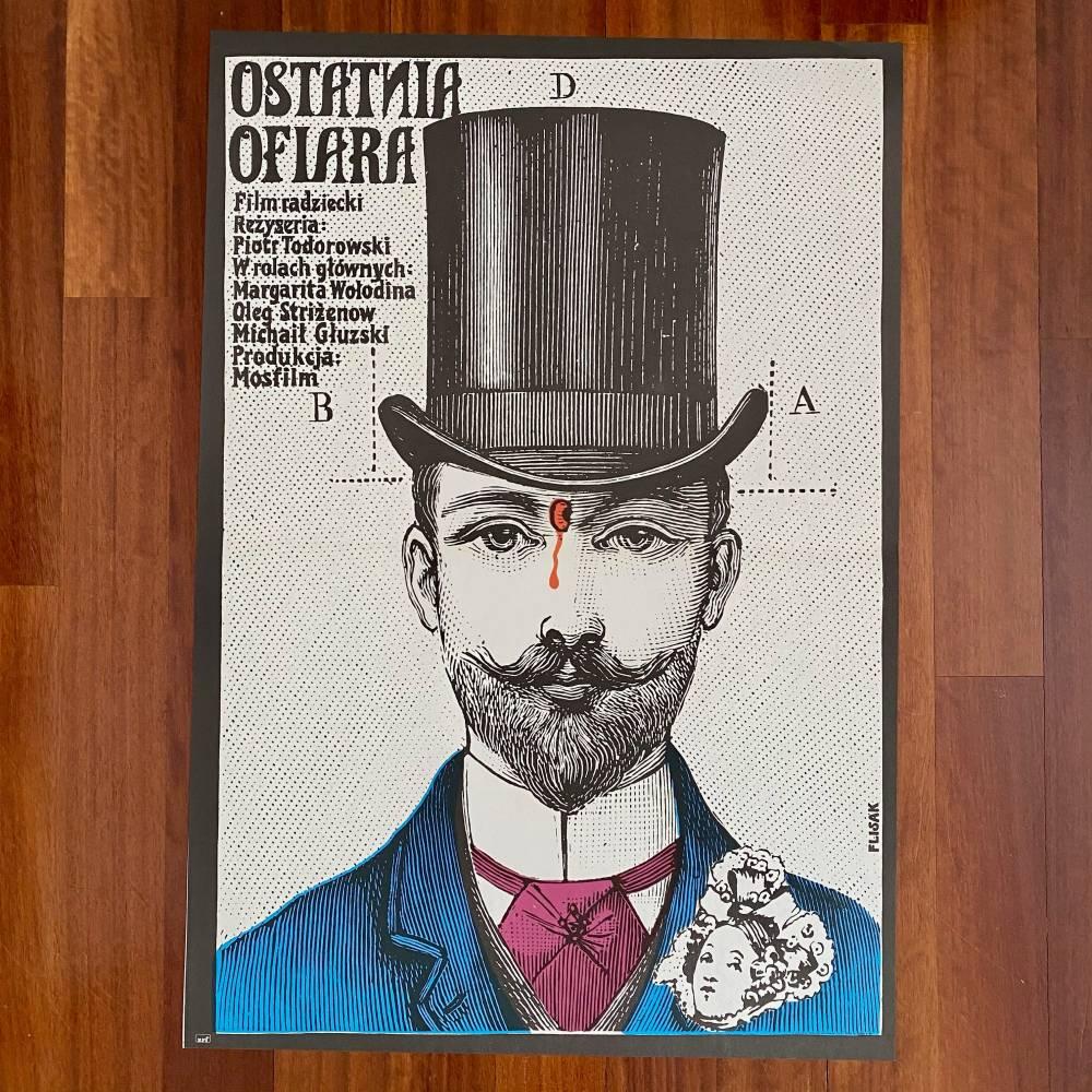 "Plakat ""Ostatnia ofiara"""