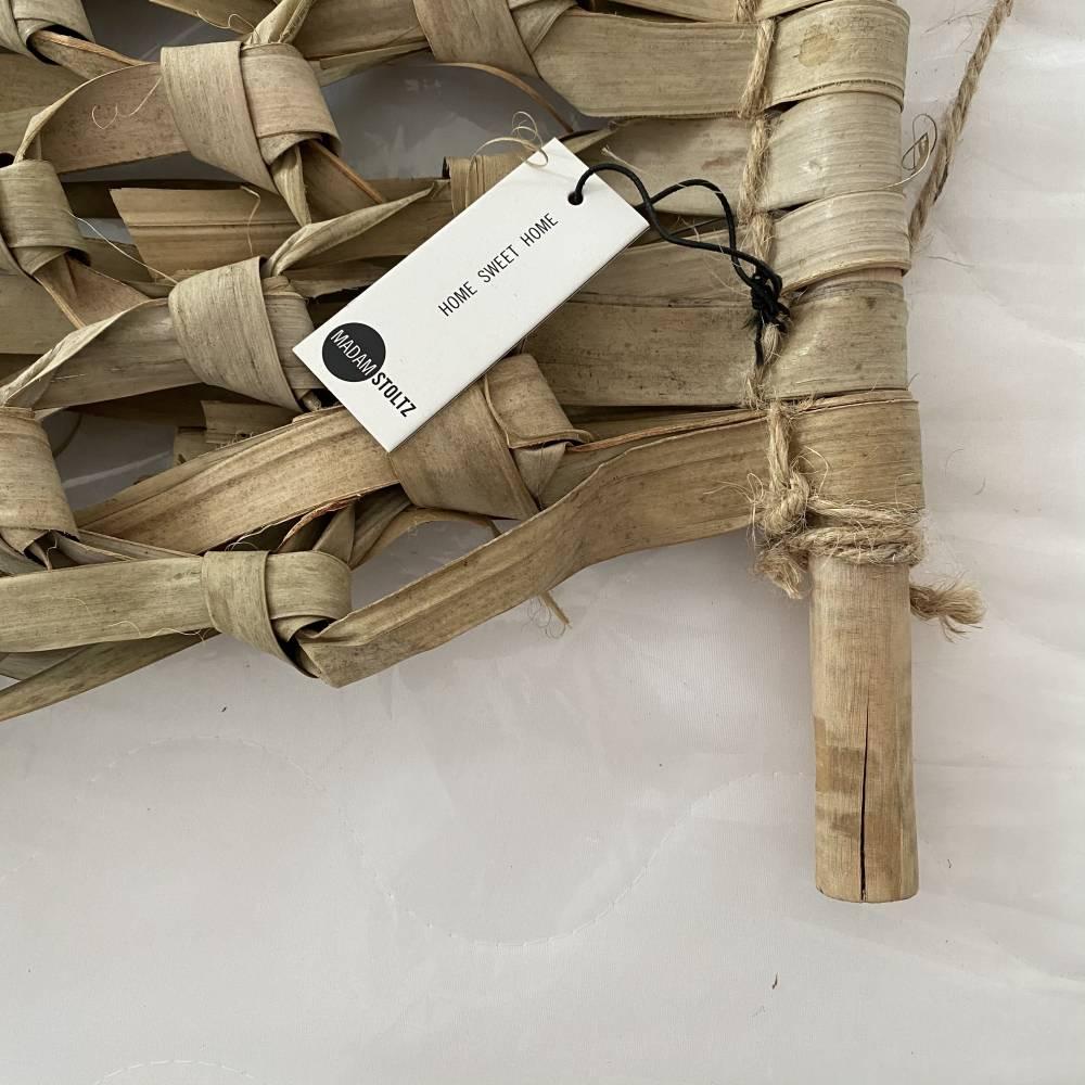 Makrama z liści palmowych